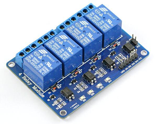 4 Channel USB Relay Module With GPIO And Analog